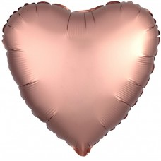 Шар фольгированный Сердце цвета пыл...